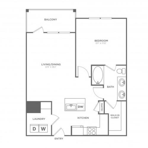 The Lubbock | 1 bed 1 bath | from 805 square feet