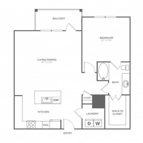 Floor Plan 9 | Oak Lawn Apartments For Rent In Dallas | 4110 Fairmount