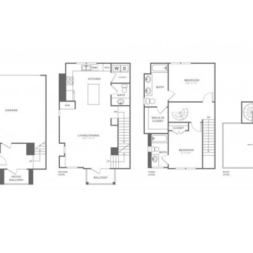 Floor Plan 11 | Apartments In Oak Lawn Dallas | 4110 Fairmount