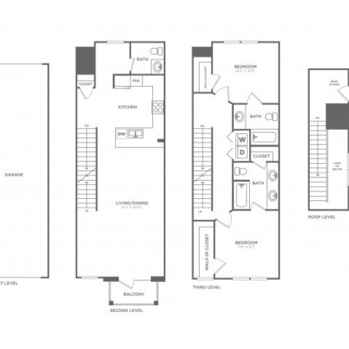Floor Plan 16 | Apartments In Oak Lawn Dallas | 4110 Fairmount