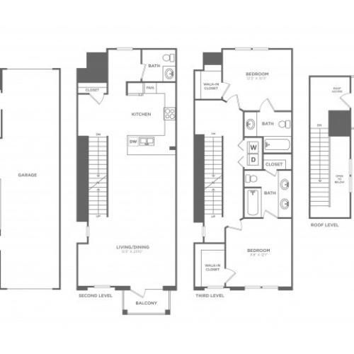 Floor Plan 17 | Apartments For Rent In Oak Lawn Dallas | 4110 Fairmount