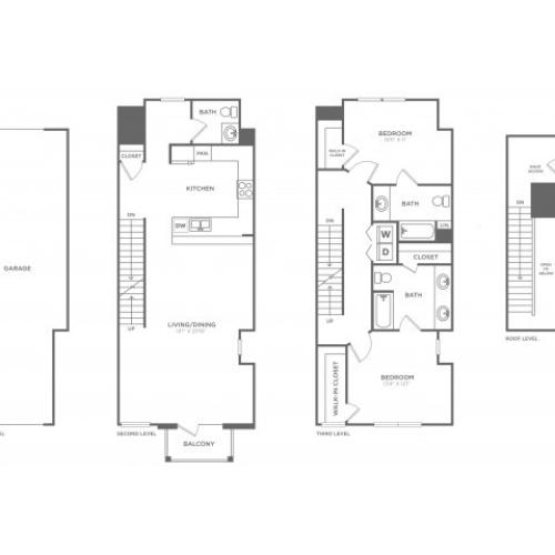 Floor Plan 18 | Oak Lawn Dallas Apartments | 4110 Fairmount