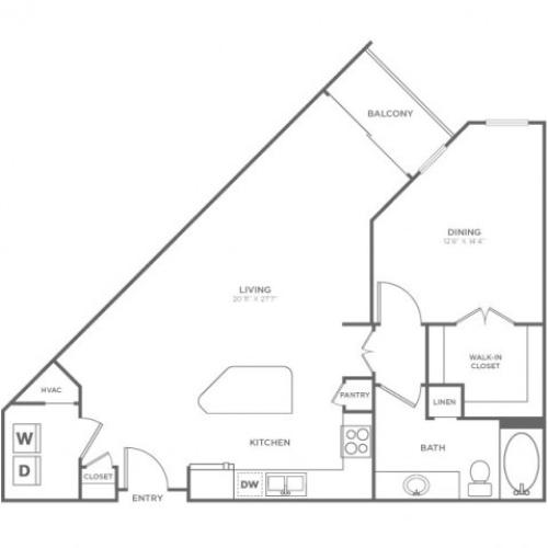 Floor Plan 1 | Knox Henderson Apartments | Fitzhugh Urban Flats