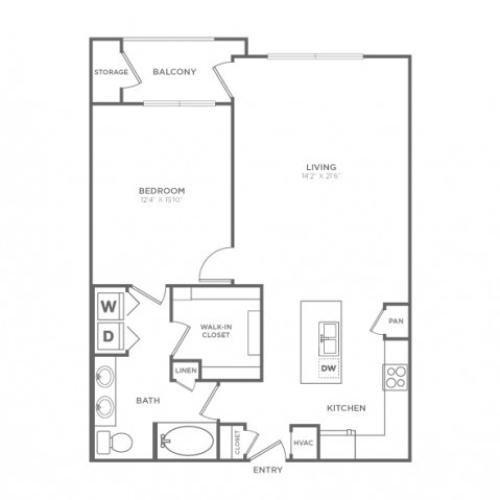 Floor Plan 3 | Dallas Knox Henderson Apartments | Fitzhugh Urban Flats