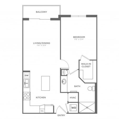 Floor Plan 1 | Luxury Apartments In Brickell Miami | SOMA at Brickell