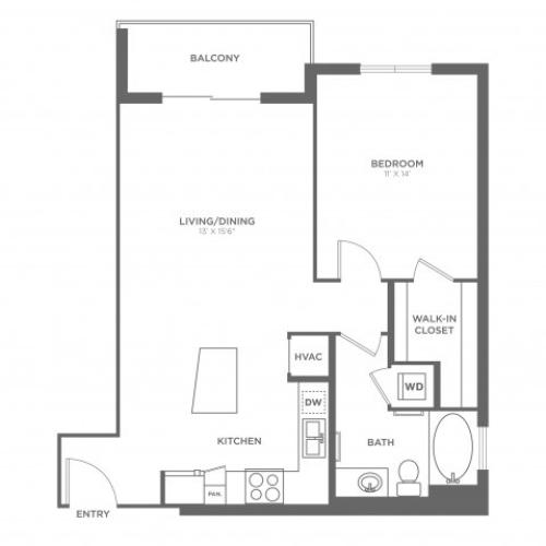 Adams | 1 bed 1 bath | from 770 square feet
