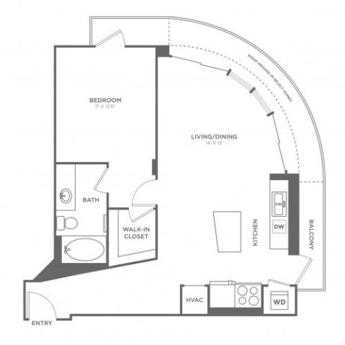 Floor Plan 3 | Miami Apartments In Brickell | SOMA at Brickell