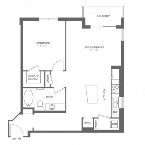 Floor Plan 4 | Brickell Miami Apartments For Rent | SOMA at Brickell
