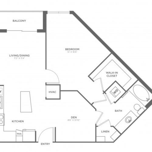 Floor Plan 5 | Apartments For Rent In Brickell Miami | SOMA at Brickell
