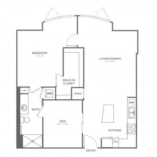 Floor Plan 8 | Miami Apartments In Brickell | SOMA at Brickell