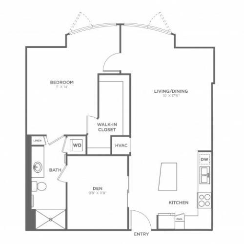 Floor Plan 8 | Miami Apartments In Brickell | SOMA at Brickell