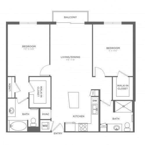 Floor Plan 9 | Brickell Miami Apartments For Rent | SOMA at Brickell