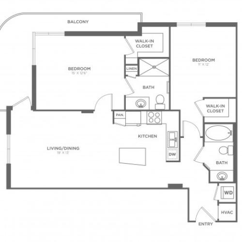 Floor Plan 10 | Apartments For Rent In Brickell Miami | SOMA at Brickell