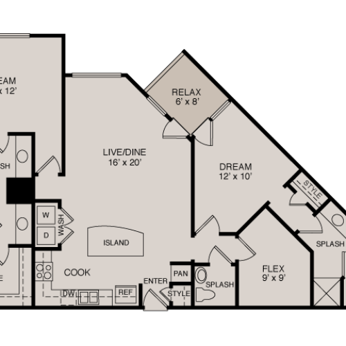 C3 2-2 | 2 bed 3 bath | from 1360 square feet