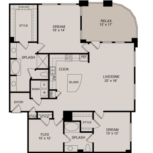 C6 2-2 | 2 bed 2 bath | from 1693 square feet