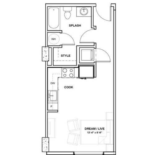 The Ewing Tower | Studio1 bath | from 436 square feet