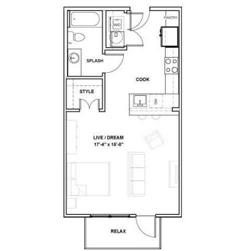 The Katy Podium | Studio1 bath | from 567 square feet