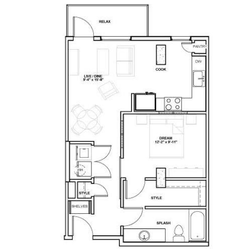 The Ash Tower | 1 bed 1 bath | from 669 square feet