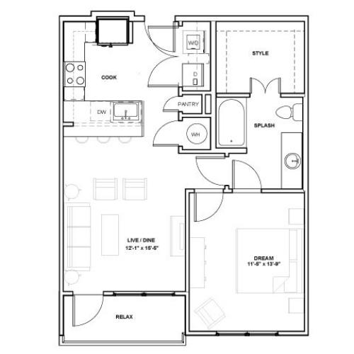 The Ellum Podium | 1 bed 1 bath | from 725 square feet