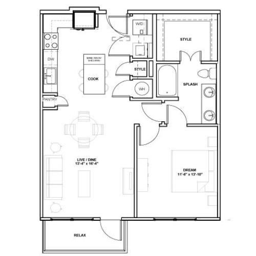 The Design Podium | 1 bed 1 bath | from 803 square feet