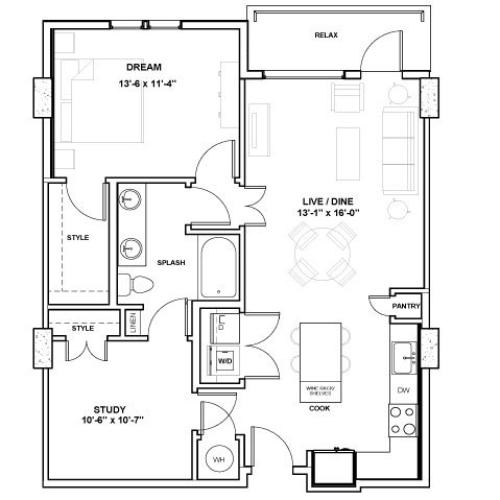 The Jones Tower | 1 bed 1 bath | from 903 square feet