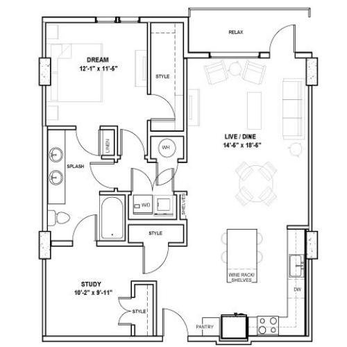 The Norris Tower | 1 bed 1 bath | from 1072 square feet