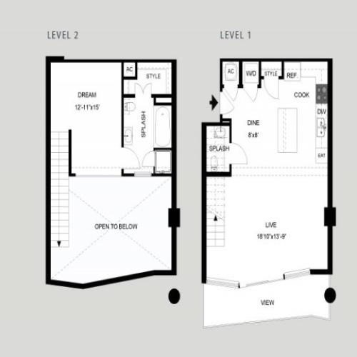 The Colorado - Loft | 1 bed 2 bath | from 992 square feet