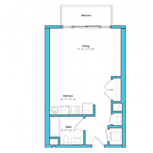 o-sa | Studio1 bath | from 535 square feet
