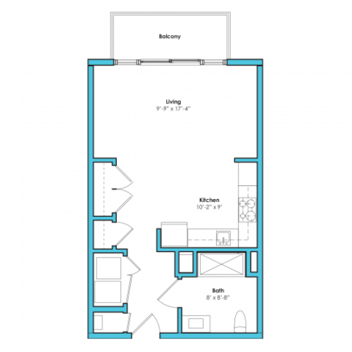 o-sag2 | Studio1 bath | from 535 square feet