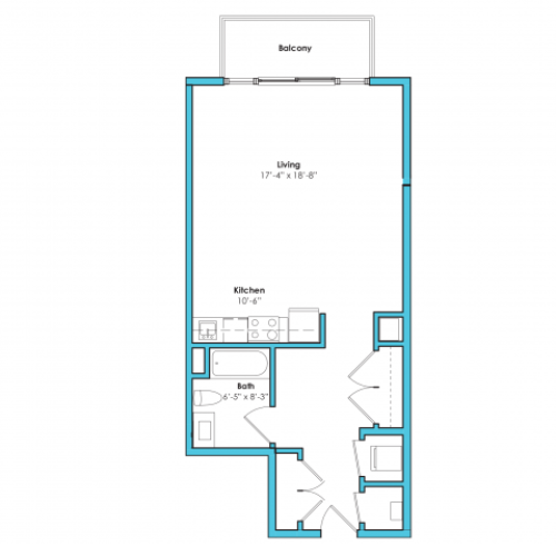 o-sb | Studio1 bath | from 625 square feet