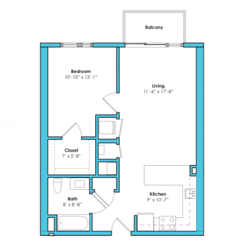 o-1ag2 | 1 bed 1 bath | from 690 square feet