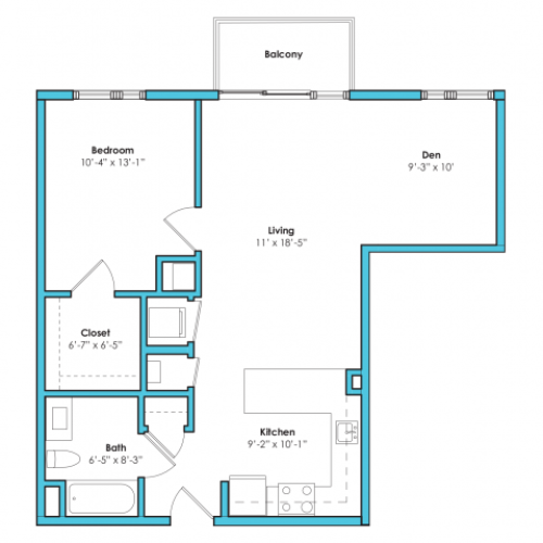 O-1C* | 1 bed 1 bath | from 740 square feet