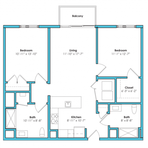 o-2bg2 | 2 bed 2 bath | from 1040 square feet