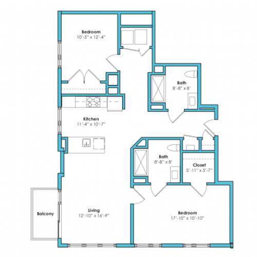 o-2eg2 | 2 bed 2 bath | from 1140 square feet