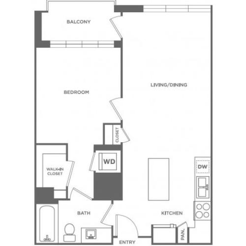 A4 | 1 bed 1 bath | from 707 square feet
