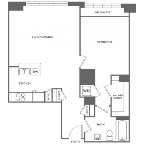 A7 | 1 bed 1 bath | from 804 square feet