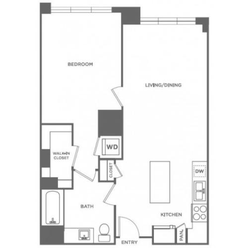 A8 | 1 bed 1 bath | from 804 square feet
