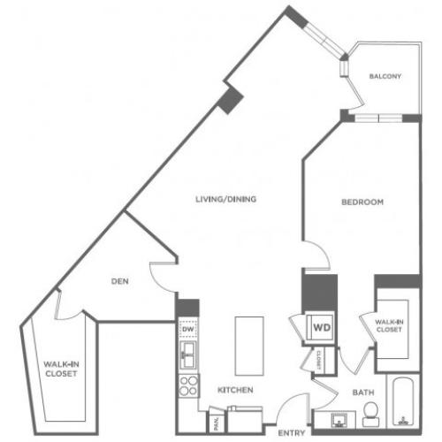 A27 | 1 bed 1 bath | from 1133 square feet
