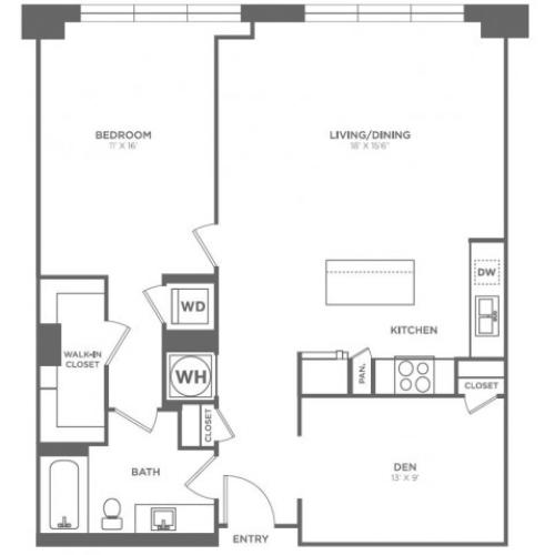 A15 | 1 bed 1 bath | from 1025 square feet
