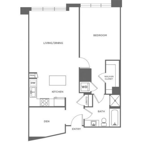 A17 | 1 bed 1 bath | from 949 square feet