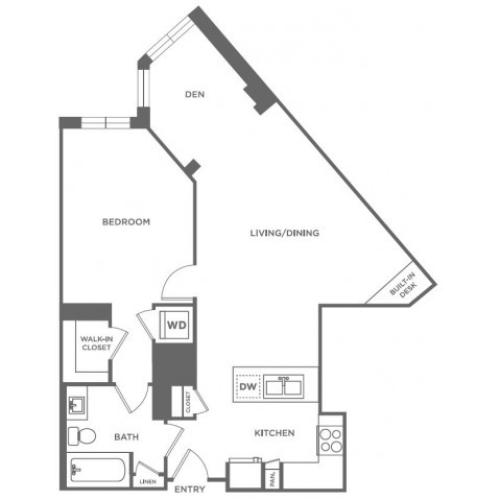 A23 | 1 bed 1 bath | from 1054 square feet