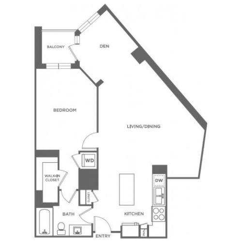 A24 | 1 bed 1 bath | from 991 square feet