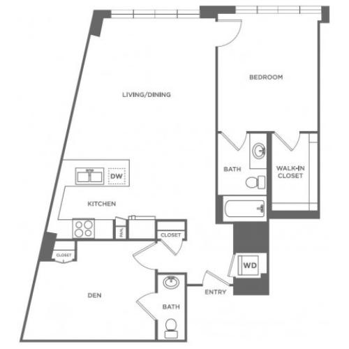 A25 | 1 bed 2 bath | from 1030 square feet