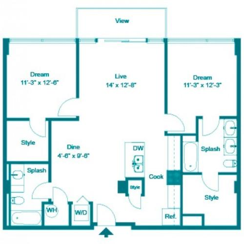 Electric PH | 2 bed 2 bath | from 1178 square feet