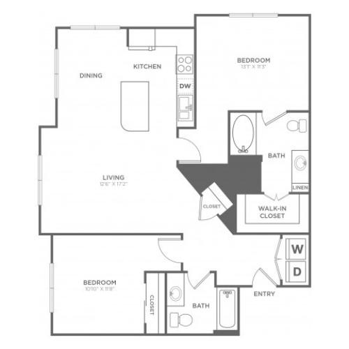 B5 | 2 bed 2 bath | from 1171 square feet