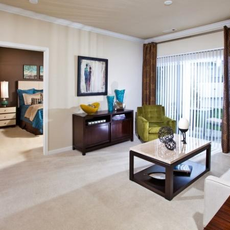 Open living area with built-in desk in classic home