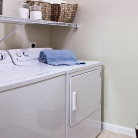 Full-size washer and dryer in-home