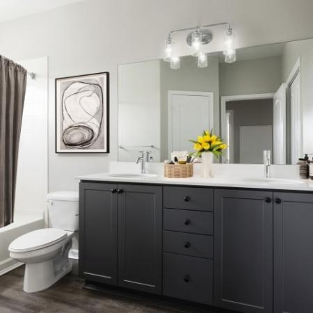 Luxe baths with double vanities