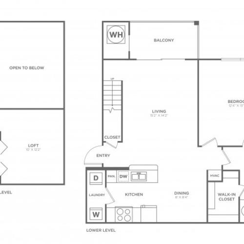 A1.1 | 1 bed 1 bath | from 957 square feet