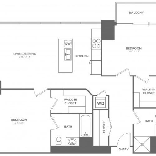 2B Arden | 2 bed 2 bath | from 1158 square feet